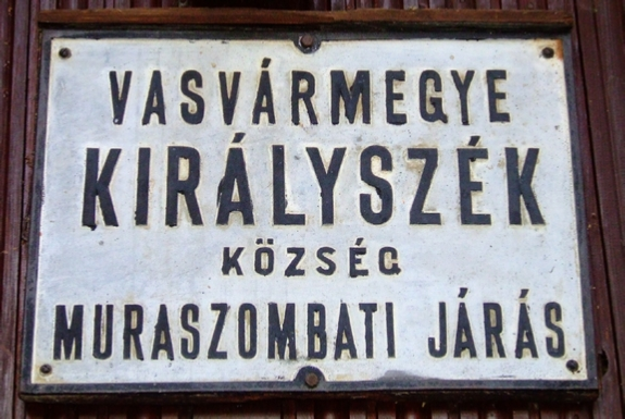 Settlement signs of the Kingdom of Hungary
