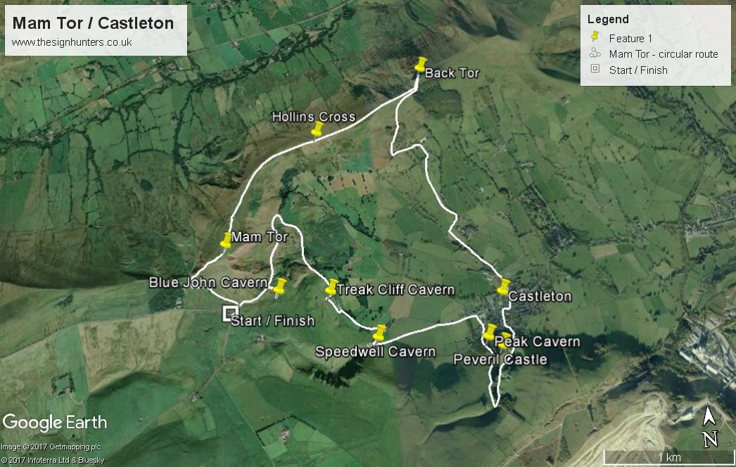 The Mam Tor - Castleton circular route
