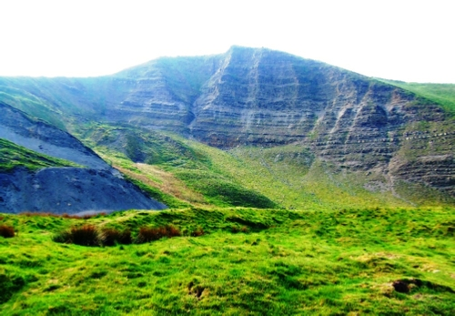 The southeast face of Mam Tor